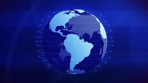 news globe rotating tempus videohive