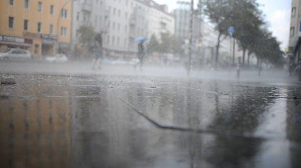 Raining On The Street By Kunstbada Videohive