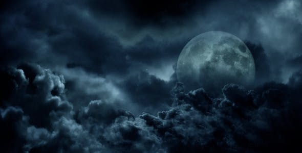 31efe331e33ec Dark Clouds And The Moon by Anatar