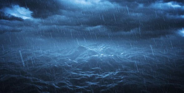 Stormy Ocean with Sound by nispo | VideoHive