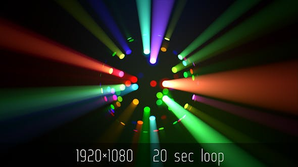 Colorful Led Disco Ball Light Rays By Kosmos Videohive
