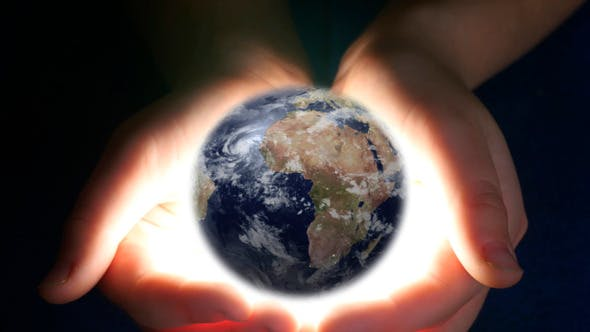 Boy Holding Earth In His Hands by UltraHDenis_new | VideoHive