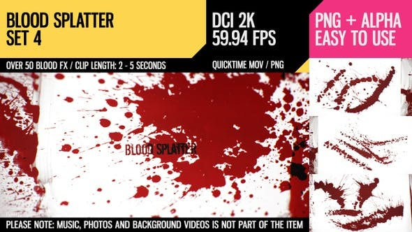 Blood Splatter (HD Set 4) by Dyomin | VideoHive
