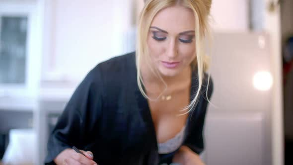 Sexy Busty Woman Cooking In The Kitchen By Daniel_dash Videohive