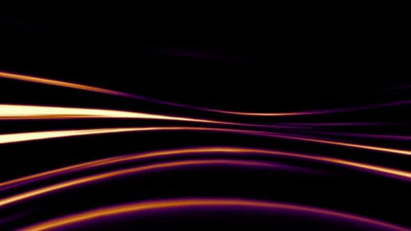 Abstract Orange And Purple Lines On Black Background By
