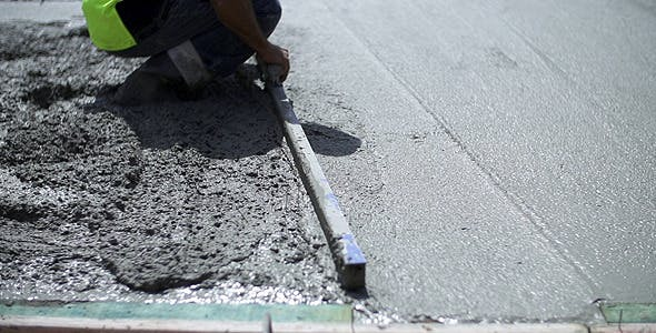 Construction Screed Cement Concrete Slab by The_Film_Factory