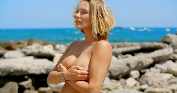 Outdoor nude mature