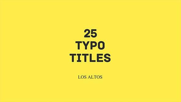 Videohive Los Altos l 25 Colorful Animated Typo Free Download