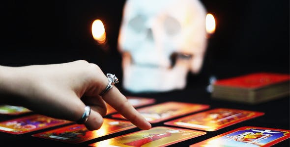 Ritual of Black Magic with the Tarot Cards by Anatar | VideoHive