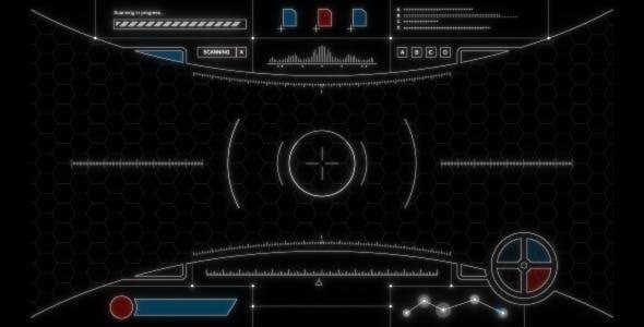 Futuristic Hud 2 By Spacestockfootage2 Videohive