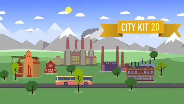 Videohive City Kit 2D Free Download