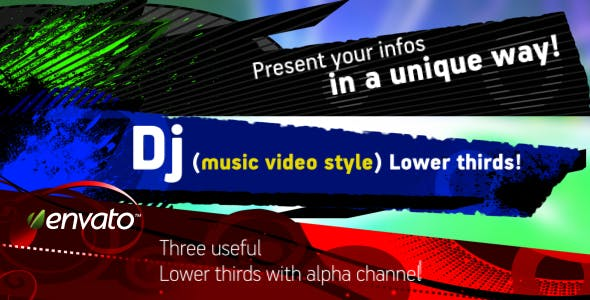DJ (music video) Lower Third pack by steve314 | VideoHive