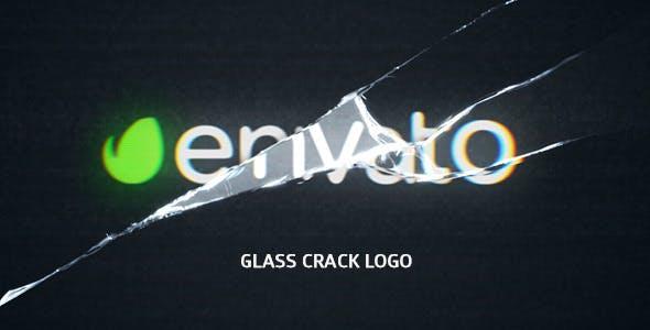 Glass Crack Logo by elmake | VideoHive