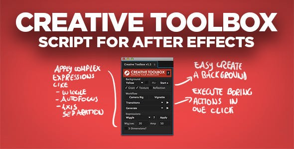 Creative Toolbox | After Effects Script by tbucci | VideoHive
