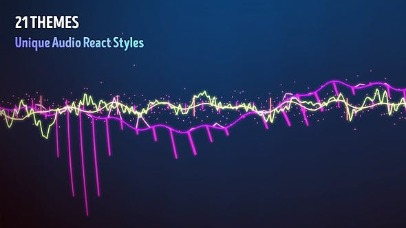 Audio Visualizer Music React by BoxMotion | VideoHive
