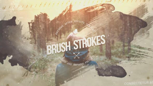 Videohive Brush Strokes Inspire Slideshow 13888326 Free