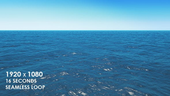 Calm Ocean Waves with Clear Sky Horizon by VF | VideoHive