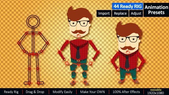 Ready Rig for Your Character Animation by yujeru | VideoHive