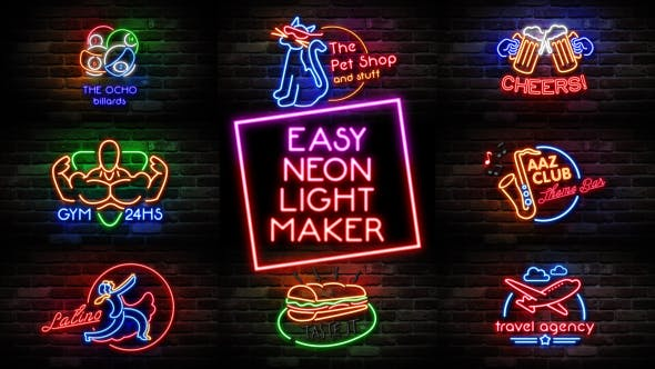 Easy Neon Lights Maker by Pressrender | VideoHive