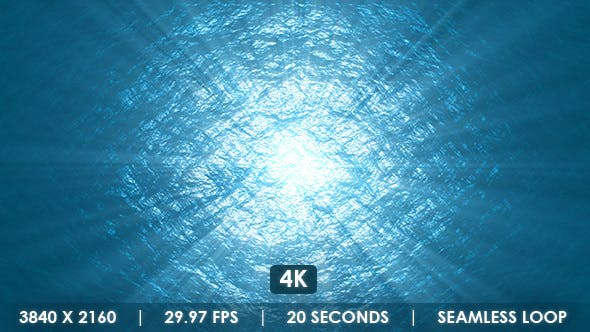 Ocean Waves Reflecting Sun with Rays by VF | VideoHive