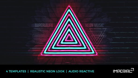 Neon Music Visualizer Audio React by ImperialFX | VideoHive