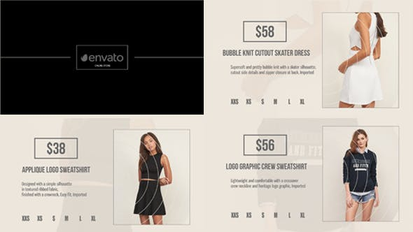 Minimal online store by aenovocaine videohive