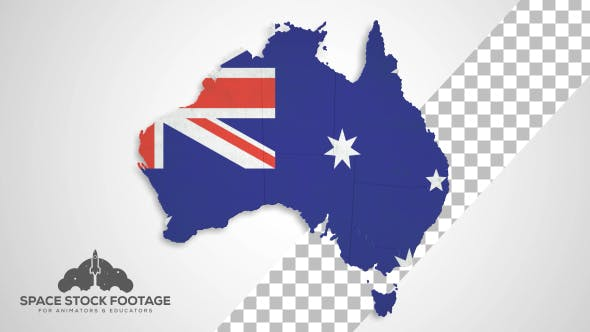 Map Of Australia Video.Australia Map States Combine By Spacestockfootage2 Videohive