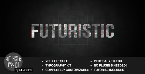 Futuristic Type Kit After Effects by ajmoger | VideoHive