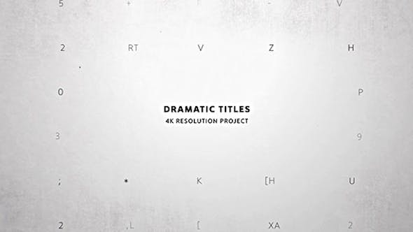 Dramatic Titles/ Movie and Film Text Intro/ True Detective/ Trailer Crime Story/ VHS/ Police & Spy