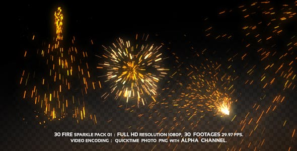 Fire Sparkle pack 01 by Chatchawan | VideoHive