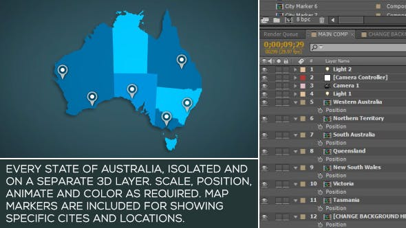 3d Map Of South Australia.Australia Map Kit By Spacestockfootage Videohive