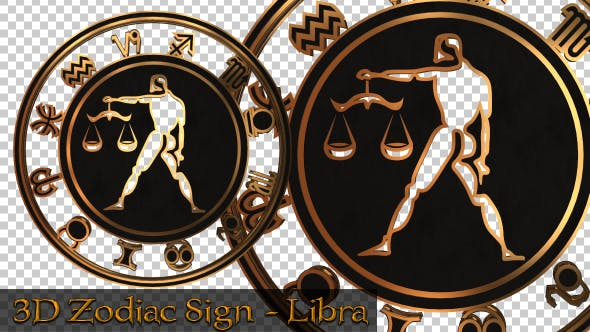 3D Zodiac Sign - Libra by Handrox-G | VideoHive