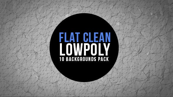 Clean and Flat Lowpoly Background Pack by gecoooh | VideoHive
