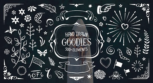 500+ Hand Drawn Elements Pack by Pixel_buddha | VideoHive