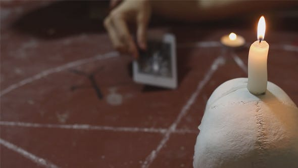 Ritual of Black Magic With Tarot Cards by Anatar | VideoHive