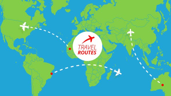 Travel Routes Maker by MotionIdea | VideoHive