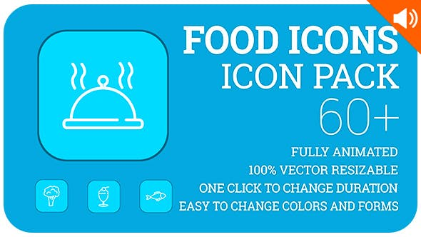 Food Icons Lineout Icon Pack By Likeman Videohive