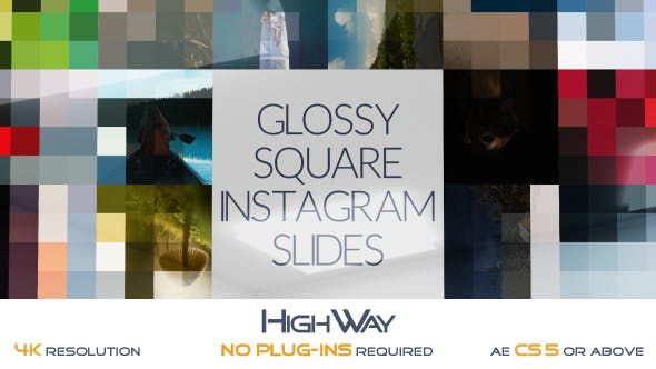 Videohive Glossy Square Instagram Slides 17120559 Free