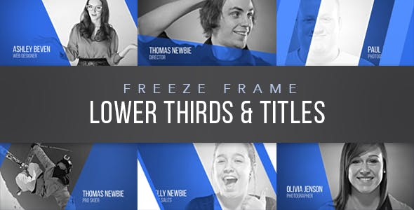 Freeze Frame Corporate Lower Thirds by GerardGerard | VideoHive