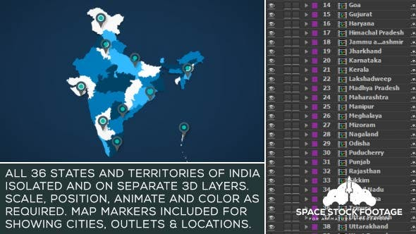 India Map Kit by SpaceStockFootage   VideoHive on brazil map, africa map, korea map, japan map, arabian sea map, karnataka map, sri lanka map, andhra pradesh map, time zone map, europe map, france map, canada map, california map, china map, indian subcontinent map, maharashtra map, russia map, texas map, australia map,