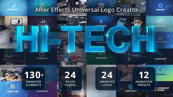 Ultimate Hi-Tech Logo Generator by EasyEdit | VideoHive