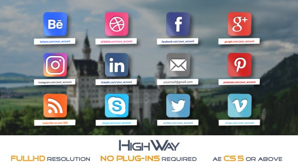 Videohive Glossy Social Icons Pack 18285364 Free
