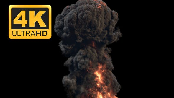 4K Hyperealistic Large Scale Smoke and Fire Ver 03 by RajPakhare