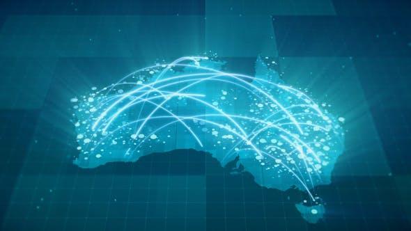 Map Of Australia Hd.Globalization Australia Map Animation Hd By Rodionova Videohive