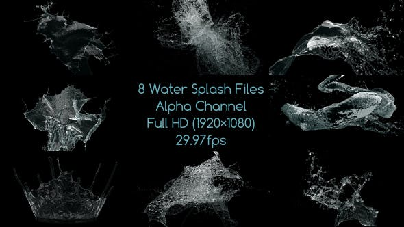 Water Splash Pack 3 by chinmay3d | VideoHive
