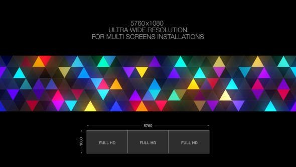 Triangles Wall by Tripleheadvisuals | VideoHive