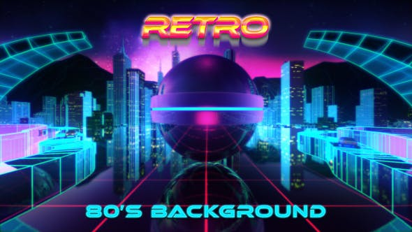PinOut Sphere 80s Background by Ornatrix | VideoHive
