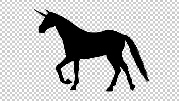 Unicorn Silhouette Walking by Handrox-G   VideoHive