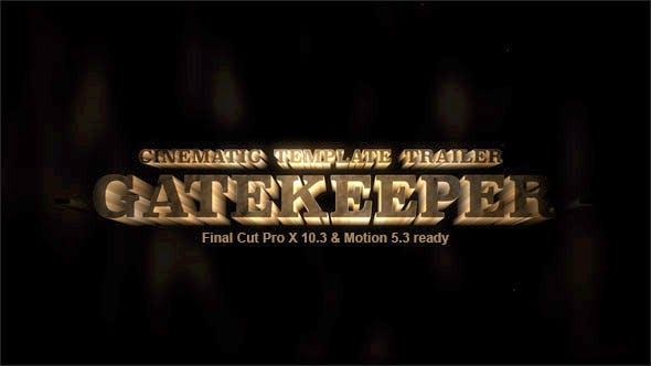 Gatekeeper Cinematic Trailer Template By Miseld Videohive