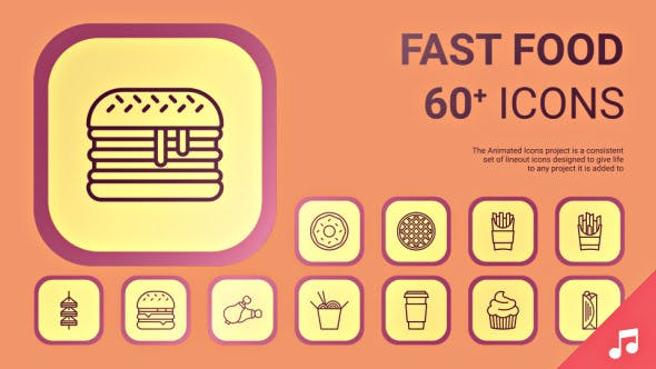 Fast Food Icons And Elements By Likeman Videohive